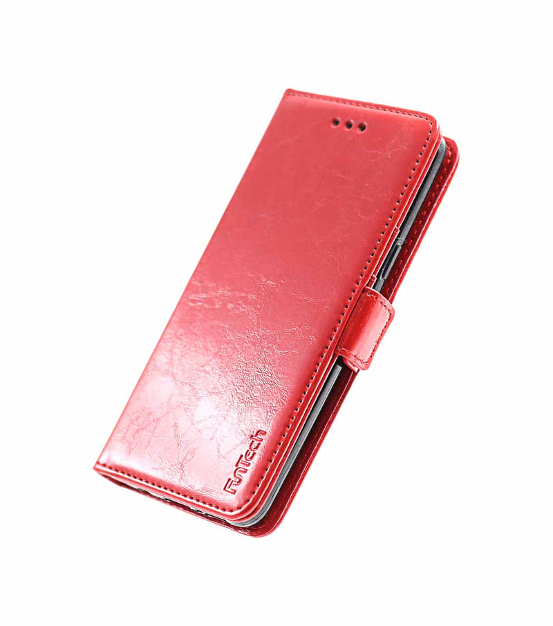 Samsung S9 Leather Wallet Case Red