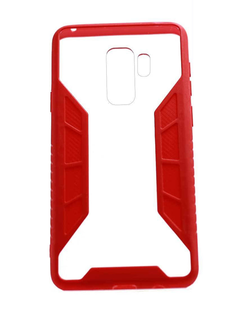 Samsung S9 Plus Grid Gel Case Red/Pink