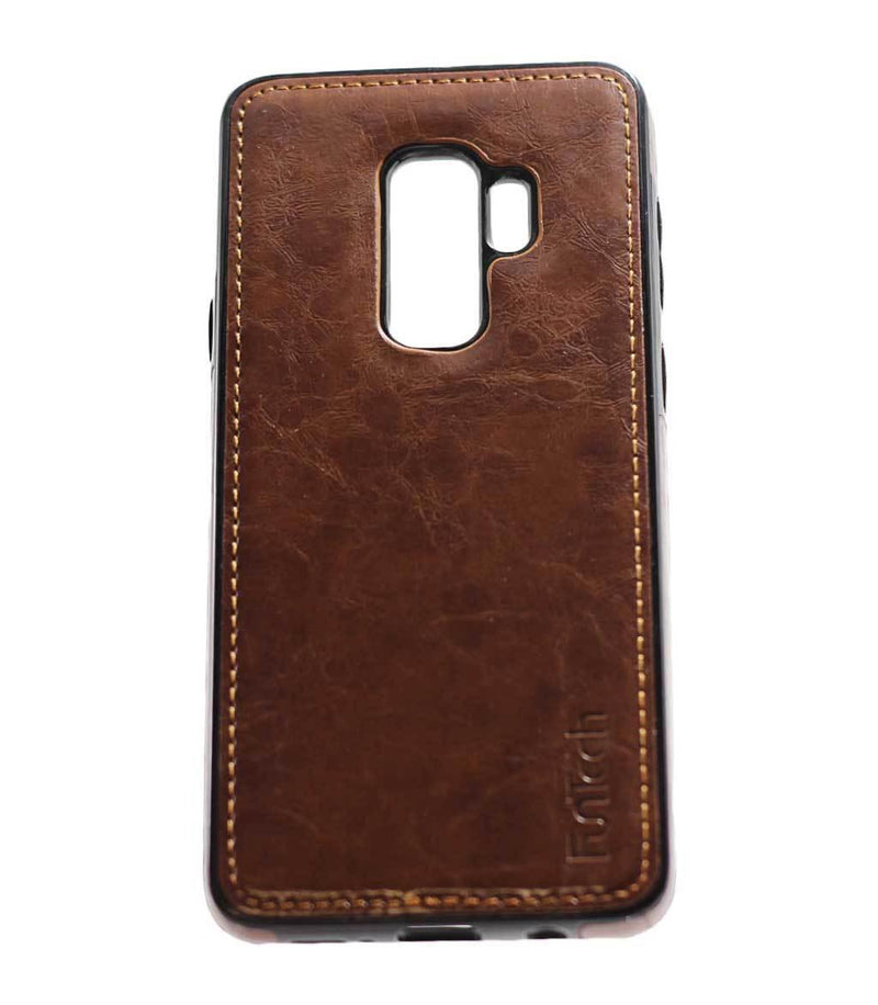 Samsung S9 Plus Leather Back Cover Brown