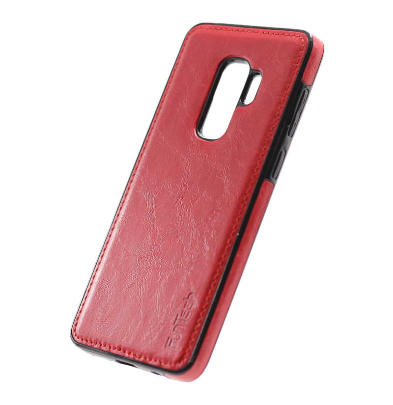 Samsung S9 Plus Leather Back Cover Red