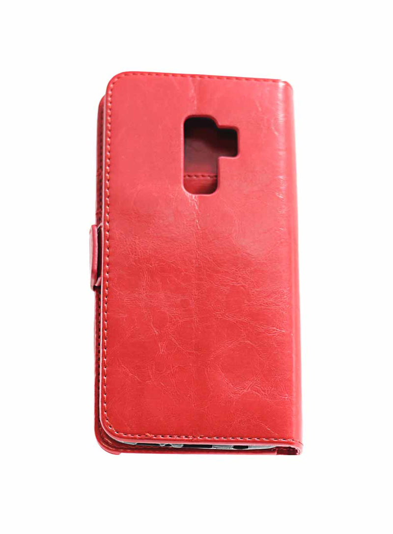 Samsung S9 Plus Premium Leather Wallet Red
