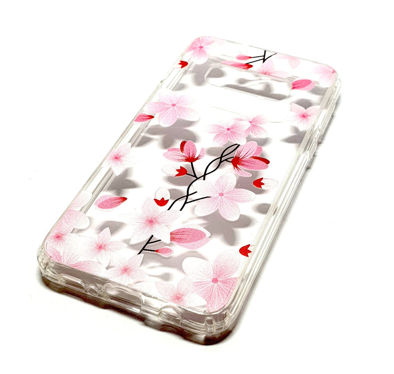 Samung S10 plus decorative clear transparent phone case flowers