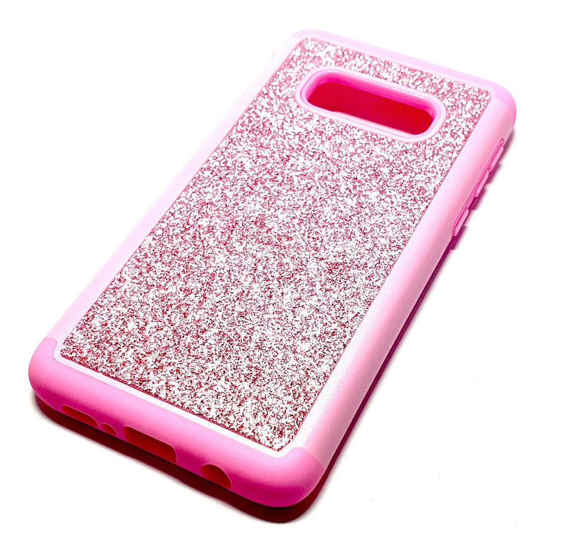 Samung S10 plus Shockproof pink glitter phone case