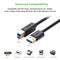 Ugreen USB 3.0 A Male to B Male Printer Cable Black 2M