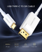 UGREEN USB Type C to DP Cable 1.5m (White)