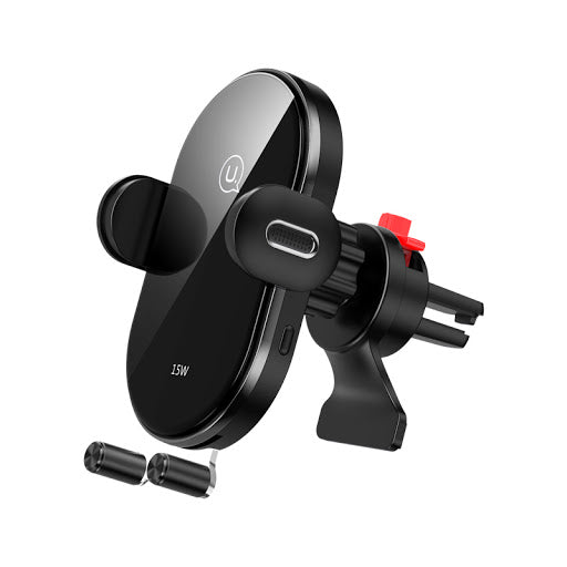 USAMS Automatic Wireless Fast Charging Car Holder (Air Vent) 15W