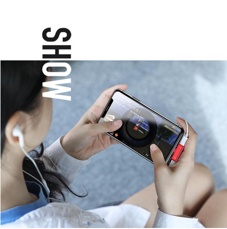 USAMS 2 in 1 Headphone Music and Charge Adapter for iPhone