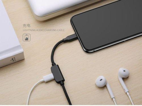 USAMS AU01 3 in 1 iPhone Lightning Audio Charging Cable