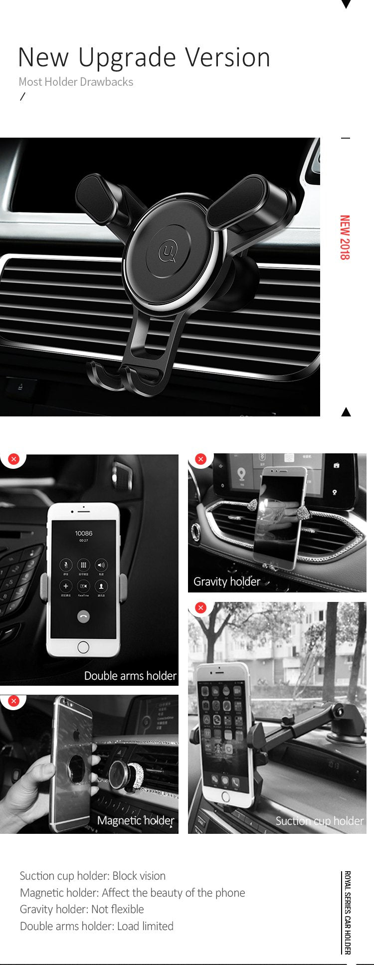 USAMS car phone holder