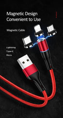 USAMS U32 Type-C Aluminum Alloy Magnetic Charging and Date Cable 1m