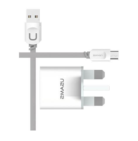 USAMS UK Plug Lightning Travel Charger Set
