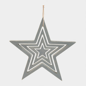Wooden Set Of 4 Stars