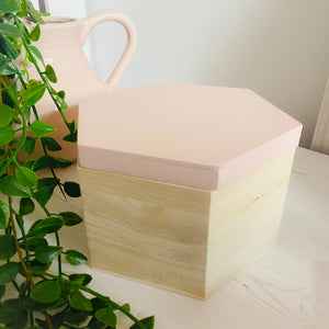 Pink Wooden Trinket Box