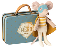 Load image into Gallery viewer, Superhero Mouse In Tin Suitcase | Little Brother