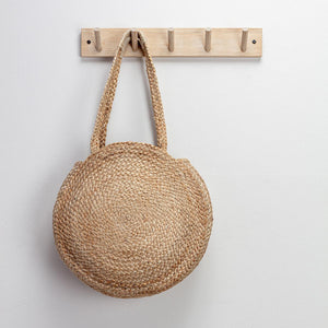 Natural Circle Basket Bag