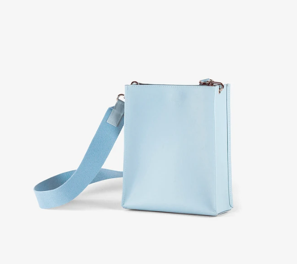 Book Bag | Recycled Leather | Light Blue