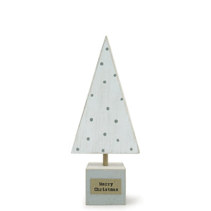 Mini Wooden Christmas Tree | White