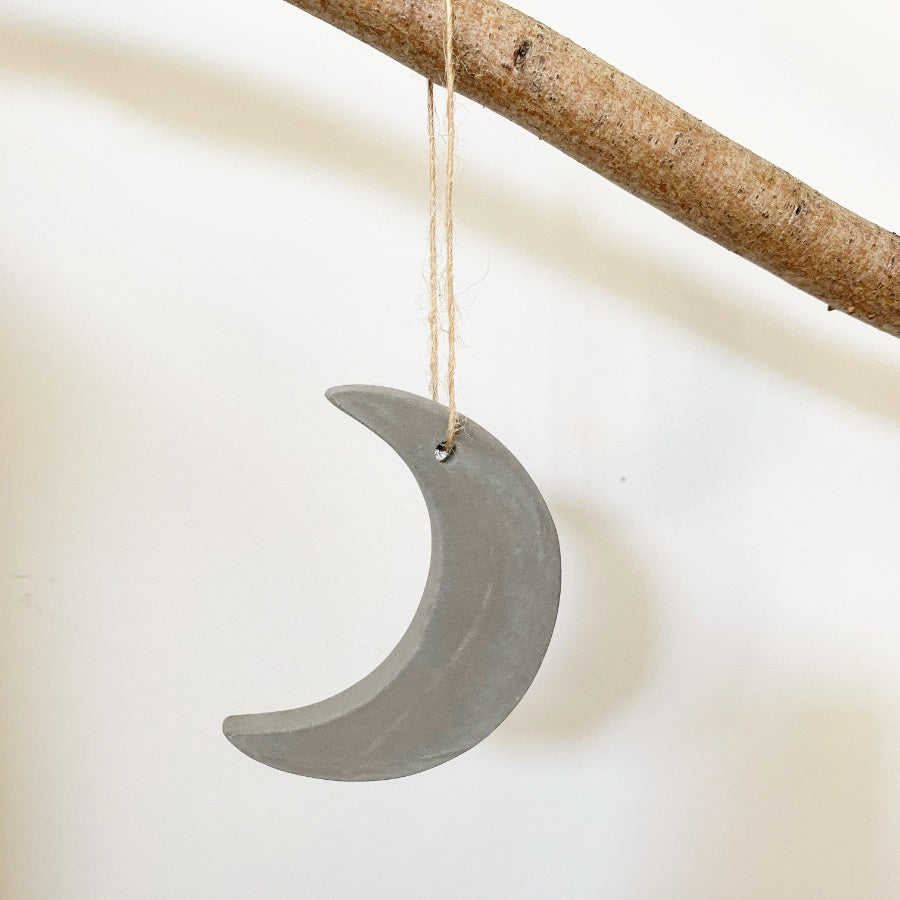 Cement Moon Decoration
