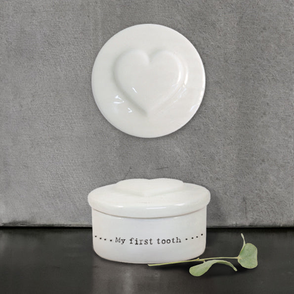 Porcelain My first Tooth Pot | Heart
