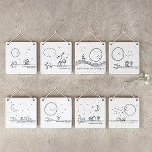 Porcelain Hanging Plaque | You Make The World More Special