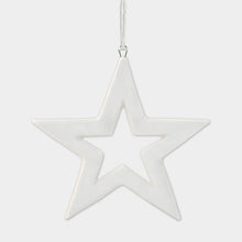 Load image into Gallery viewer, Mini Hanging Porcelain Star