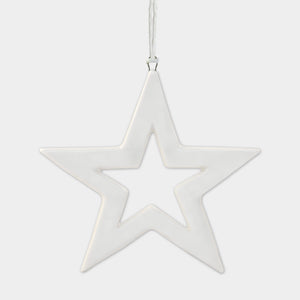 Mini Hanging Porcelain Star