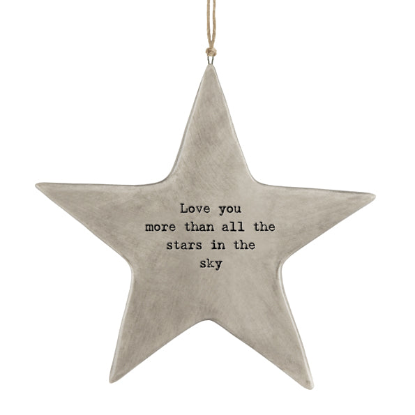 Rustic Hanging Star | Love You More