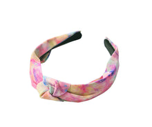 Load image into Gallery viewer, Pink Tie Dye Knot Headband