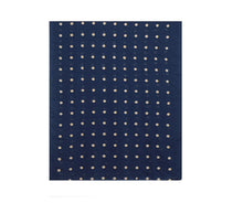 Load image into Gallery viewer, Navy Blue Polka Dot Embroidered Scarf