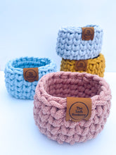 Load image into Gallery viewer, Tiny Chunky Crochet Basket | 4 Colours