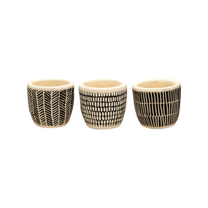 Mini Scandi Boho Planters | Set Of 3