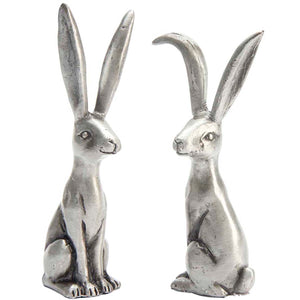 Pewter Hare Ring Holder | Set Of Two