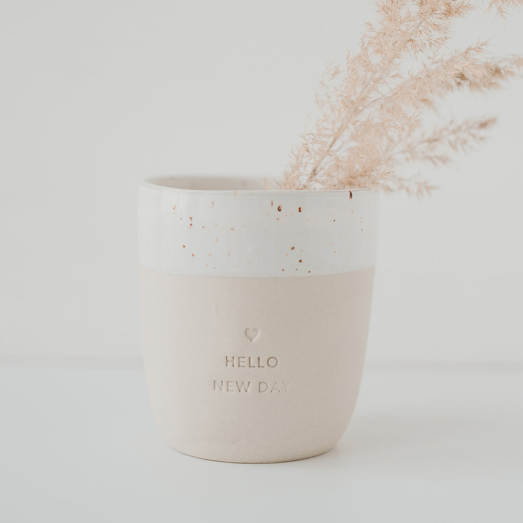 Earthenware Mug | Hello New Day