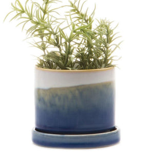 Ceramic Mini Glazed Planter | Blue
