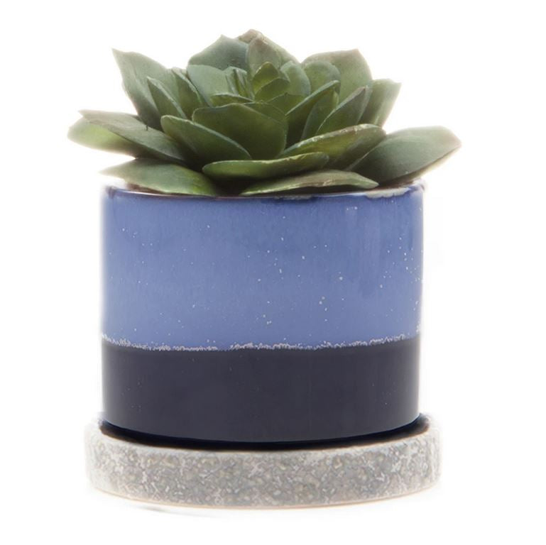 Ceramic Mini Glazed Planter | Navy Blue