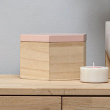 Load image into Gallery viewer, Pink Wooden Trinket Box