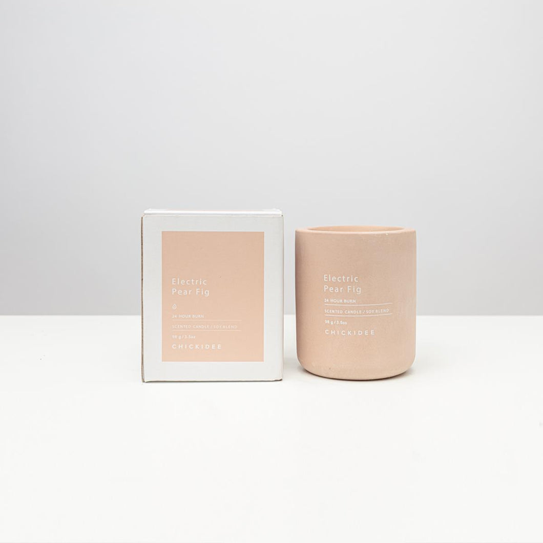 Mini Electric Pear Fig Concrete Candle