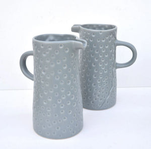 Textured Ceramic Jug | Grey