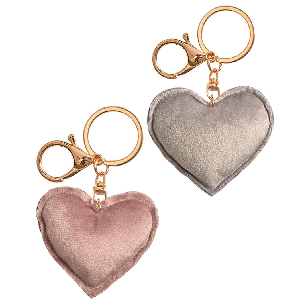 Velvet Heart Keyring Or Bag Charm