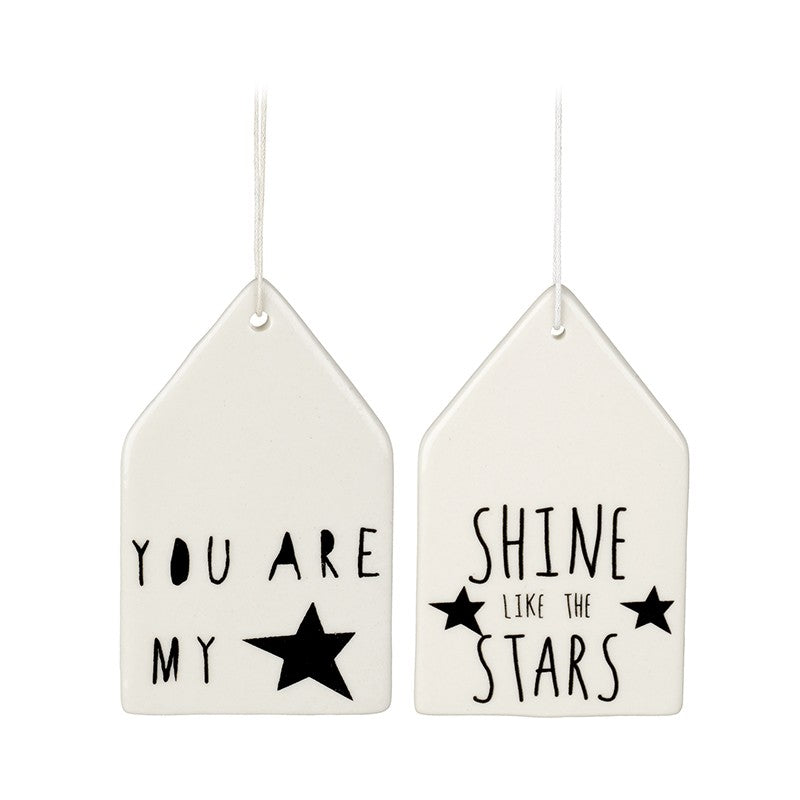 Porcelain Hanging Plaque | Stars