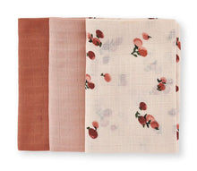 Load image into Gallery viewer, Muslin Squares | Peaches | Set Of 3