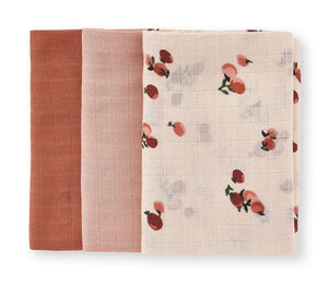 Muslin Squares | Peaches | Set Of 3