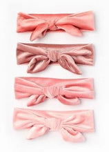 Load image into Gallery viewer, Children's Pink Velvet Bandeau With Bow