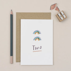 Second Birthday Card | Rainbows