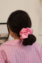 Load image into Gallery viewer, Royal Pink Silk Scrunchie - XL