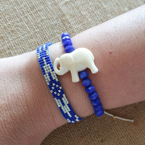 Blue slim bracelet set