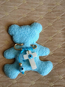 Baby boy shell cross keepsake