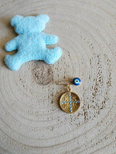 Load image into Gallery viewer, Constantine coin baby boy safety pin