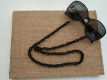 Load image into Gallery viewer, Black acrylic sunglasses straps