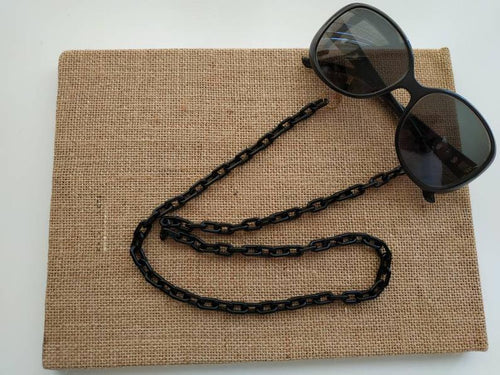 Black acrylic sunglasses straps